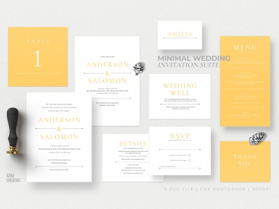 Minimal Wedding Invitation Suite bride cards delicate classy cute yellow card party designs anniversary card invitation diy elegant modern invitations wedding card feminine invite wedding invitation minimal
