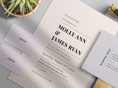 Minimal Colour Wedding Suite