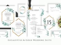 Eucalyptus & Gold Wedding Suite
