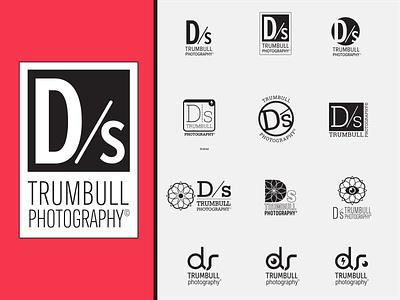 Logo design for Ds Trumbull Photography branding and identity illustrator logo