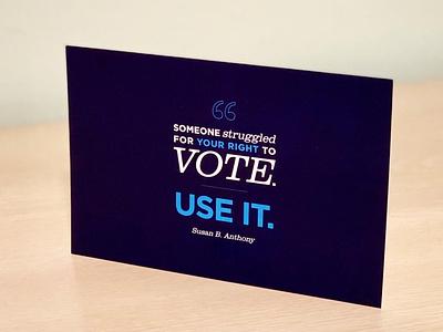 Women vote vote typogaphy postcard design illustrator illustration graphic design