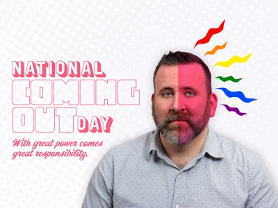National Coming Out Day comic book art lgbtq pride photoshop graphic design queer