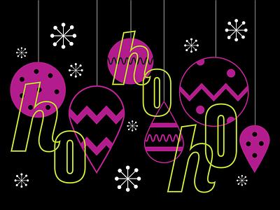 Ho Ho Ho: 2020 Holiday Card vector art christmas illustrator graphic design animation holiday card typography illustration