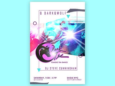 Dark Tea - Tea Dance Poster logo graphic design design poster queer teadance photoshop illustration