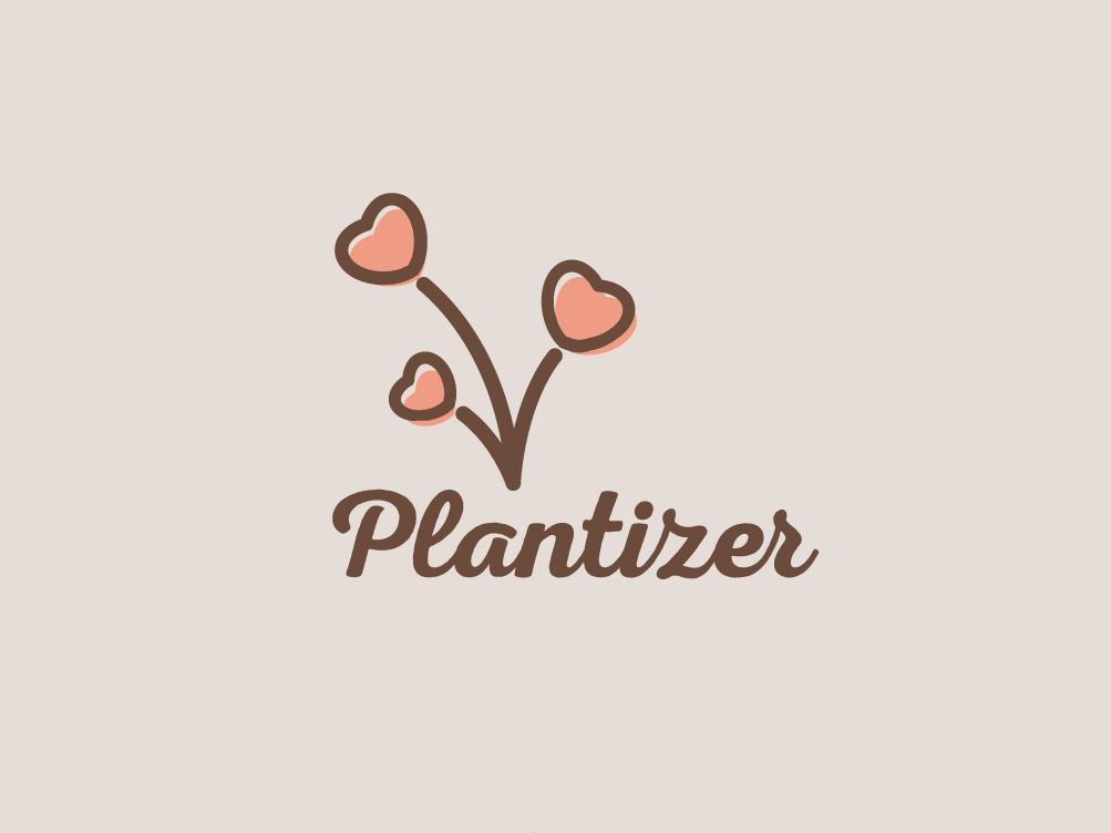 Plantizer Logo illustrator graphic  design type illustraion clean simple nursery plants plant illustration plant logo creative  design logo designer branding green vector illustration freelance designer design logo