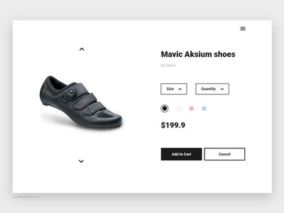 033/100 daily ui - customize product add to cart black icon shop customize product customize shoe website web branding app flat 100 daily ui simple clean ux design ui