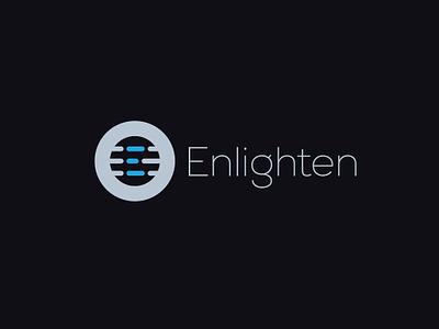 Enlighten proposed logo logo maker vector simplification clutter data letter e blind content browser web typography freelance designer app design simple clean icon logo flat