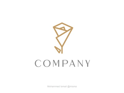 elegant abstract rose logo buy for sale