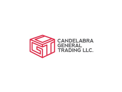 Candelbra general trading official logo red t cg shipping company shipping container box export import trading typography freelance designer vector flat branding simple logo clean design