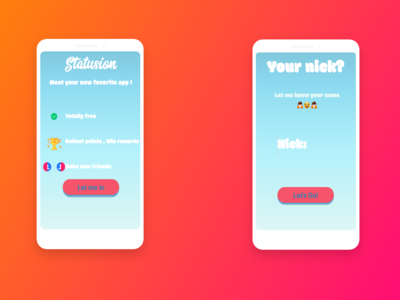 Statusion Android ux form login ui android