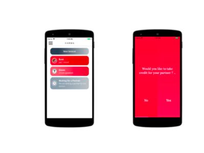 Karma app design ux ui