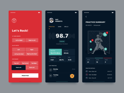 lacrosse minimal dark simple clean interface simple application ui user profile lacrosse sport red application mobile ui mobile