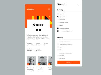 Cordage Mobile listings compliance saas voit xandovoit orange design ux mobile app clean simple minimal ui