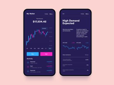 My Crypto Wallet analytics bitcoin blockchain crypto wallet crypto design xandovoit voit dashboard app clean simple minimal ui