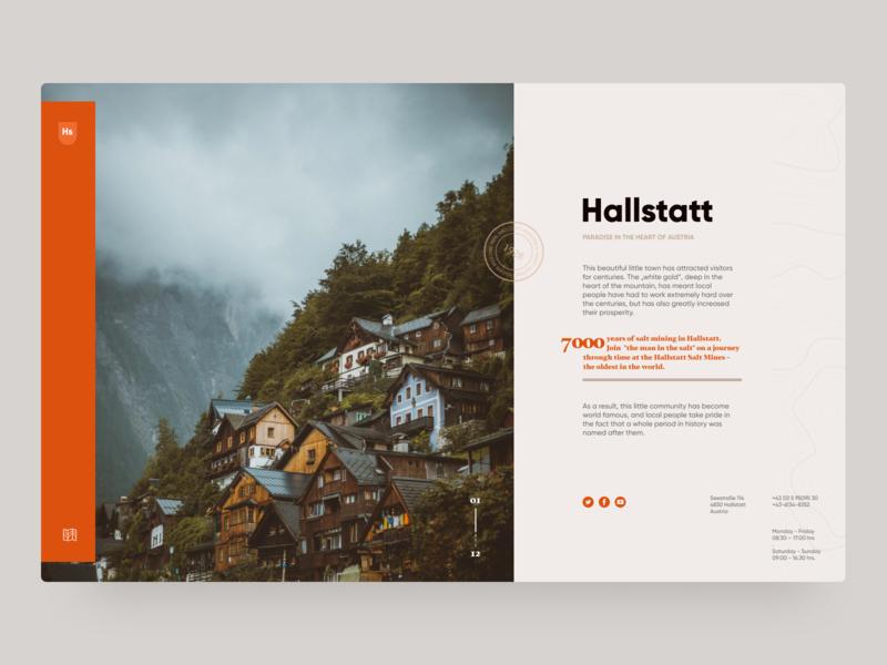 Hallstatt travel landing page xandovoit voit clean simple minimal ui