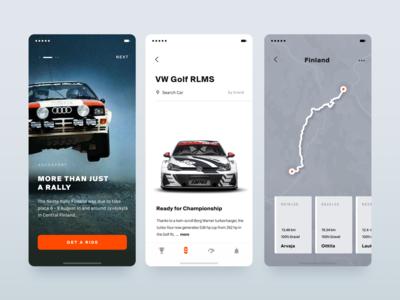 Get a Ride mobile app orange grey map autosport mobile xandovoit voit ui simple clean