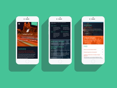 Conference Homepage Mobile Design