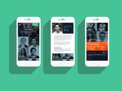 Conference Speakers Mobile Design