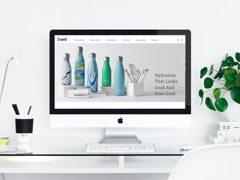 Product landing page product page ui design swell ui deisgn landing page responsive web desgin
