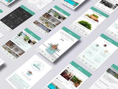 Community social app screens ui app design plants app ux designer ios avocado events gamification community ux design