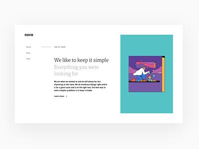 Novo Website web deisgn responsive website responsive design responsive web design website design website interface design clean product design design ux ui minimal