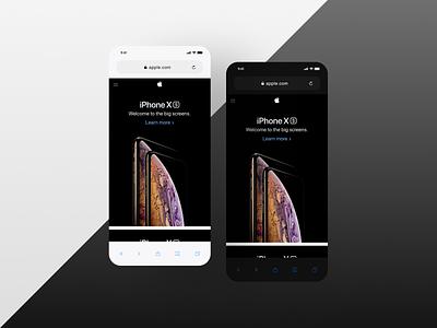 iOS Safari Redesign experience design interface design theme dark light clean ios app design app design safari redesign app apple ios product design design ux ui minimal
