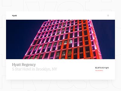 Hyatt Website responsive design redesign hotels web design website design website hotel app hotel booking hotel product design design ux ui minimal