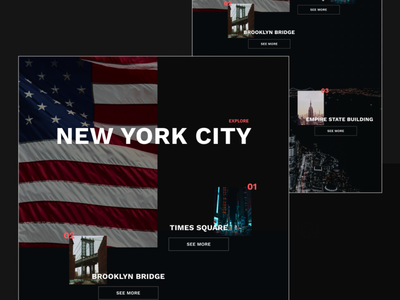 New York City Travel Website travel website travel agency travel manhattan brooklyn new york times new york city new york website design web design website web dark mode dark clean product design design ux ui minimal
