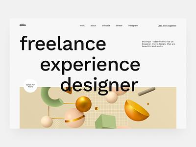 Ollis Portfolio clear responsive design web design website portfolio site portfolio website portfolio design portfolio clean product design design ux ui minimal