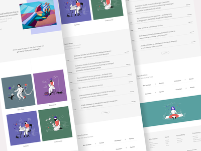 Carehood - Home Page website design accessible modern webdesign landing page illustration aesthetic website responsive healthcare health clean product design design ux ui minimal