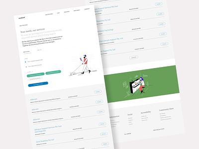 Carehood - NDIS Provider Page webdesign website design responsive saas paas website ndis healthcare health clean product design design ui ux minimal