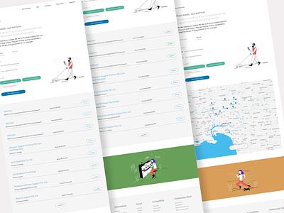 Carehood - NDIS provider page website design webdesign web website responsive healthcare health illustrations illustration ndis provider ndis clean product design design ux ui minimal