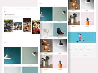 Carehood - Shop page webdesign responsive website design web website products ecommmerce shop clean product design design ux ui minimal