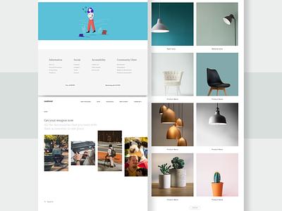 Carehood - Shop page product webdesign website design responsive web website ecommerce shop clean product design design ux ui minimal