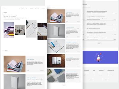 Carehood - Resources web design website design website web responsive resources product clean product design design ux ui minimal