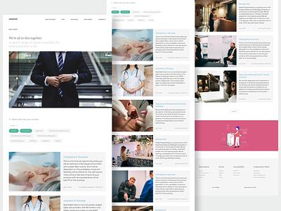 Carehood : Employment webapp responsive web design webdesign website design website care healthcare health clean product design design ux ui minimal