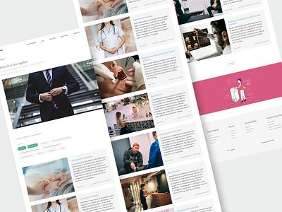 Carehood : Employment Page webapp responsive web design website design website care healthcare health user interface clean product design design ux ui minimal