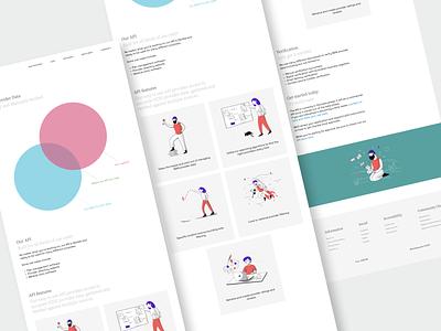 Carehood : Developer API page webapp responsive webdesign website design website care healthcare health user interface clean product design design ux ui minimal