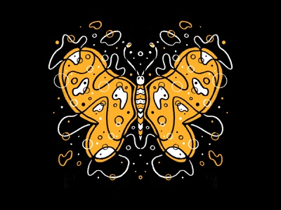 Living Things creature wings bug insect illustration series pattern butterfly