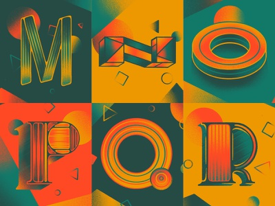 Next 6! r q p o n m illustration series typography lettering hand lettering 36 days of type lettering 3d type 36daysoftype07 36days 36daysoftype