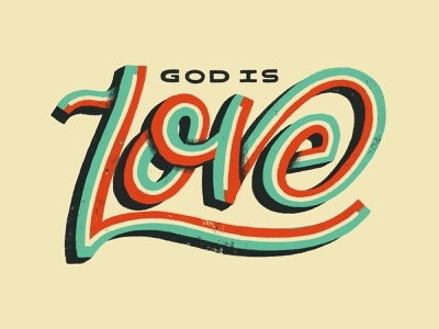 God Is Love apple pencil procreate handlettering hand lettered calligraphy good type bible lettering bible lettering typography type god love god is love