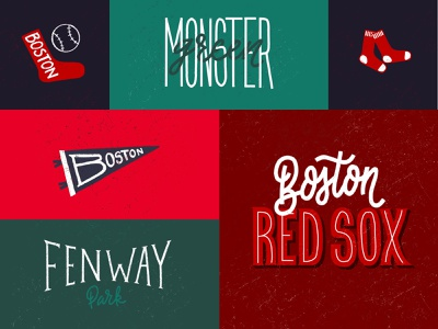 Red Sox boston baseball vintage baseball vintage retro red hand made hand lettering lettering logo mlb baseball green monster boston red sox boston fenway park red sox