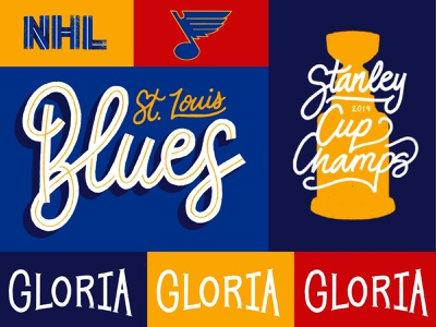 STL Blues procreate handlettering lettering logo champs cup blue 2019 stanley cup 2019 stanley cup gloria puck st louis hockey hockey nhl stanley cup saint louis st louis blues blues