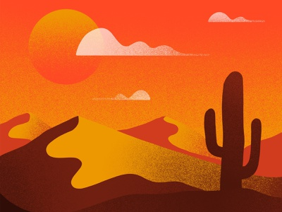 Desert Texture environment depth sand dunes sand dunes dune night sky clouds setting sun cactus illustration series grainy grain warmth warm texture desert sun