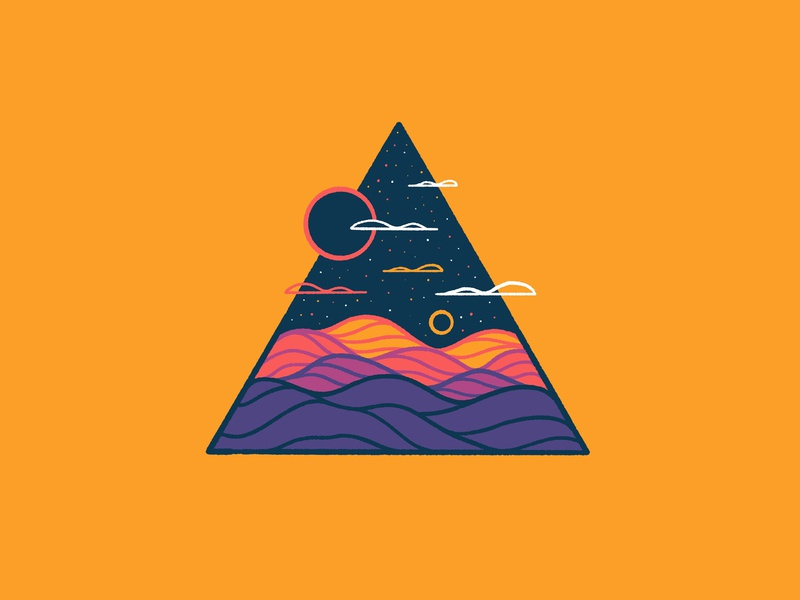 Line Scapes 11 series procreate hilly hills rusty nib ink nib procreate nib rolling hills clouds triangle logo triangle landscape triangle drawing triangles prints for sale print series illustration series procreate series landscape triangle