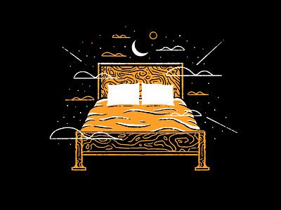 Sleep soft pillow zzz clouds drawing texture series procreate ink comfy sleeping sleepy illustration bed drawing bed tired sleep inktober 2020 inktober2020 inktober