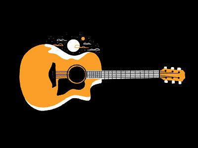 Music illustration texture series procreate guitarist musical instrument musical instrument guitars music landscape guitar landscape guitar drawing guitar inktober 2020 inktober2020 inktober