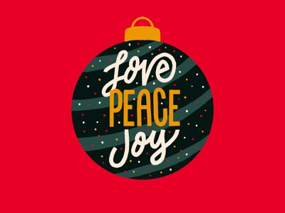 Love Peace Joy typography ornament type ornament lettering ornament holiday lettering handmade lettering handmade digital letters digital lettering procreate drawing procreate lettering christmas typography christmas type procreate typography procreate type christmas ornaments holidays joy peace love