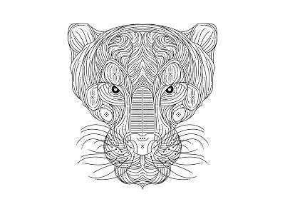 WIP Tiger Linework stylized tiger tigers linework tattoo idea tiger tattoo tiger art tiger