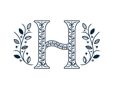 H floral h letter h h h logo wedding logo wedding design wedding